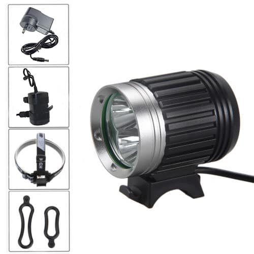 Cree Led 3000 Bike Light Lumens Full Set Includes 6400mah Abs