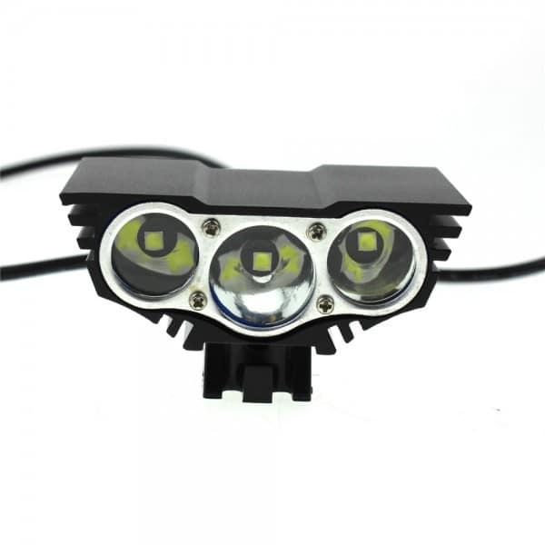 LED 3600 Bike Light Lumens Full Set includes 8800mAh ABS Battery (2)