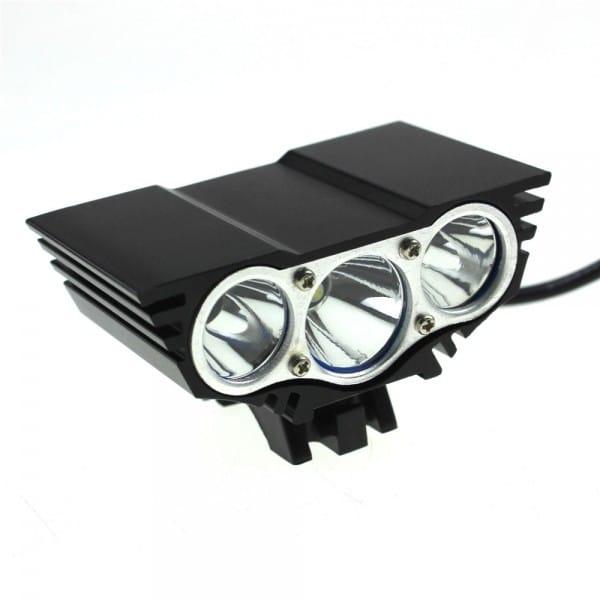 LED 3600 Bike Light Lumens Full Set includes 8800mAh ABS Battery (6)