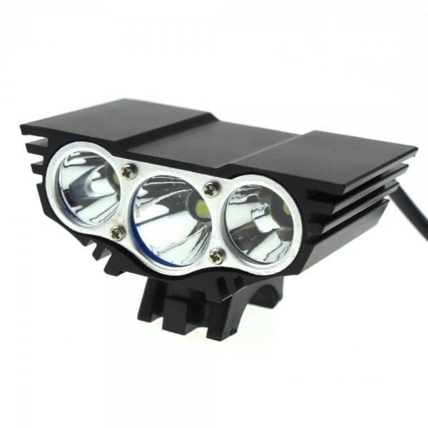 LED 3600 Bike Light Lumens Full Set includes 8800mAh ABS Battery (7)